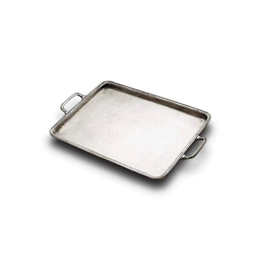 Italian Pewter Tray - Medium