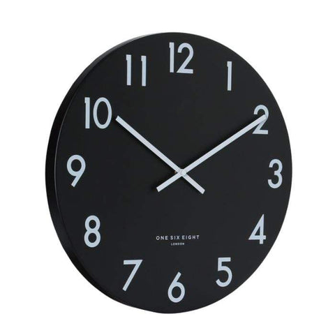 Jackson Clock Black with White Numbers