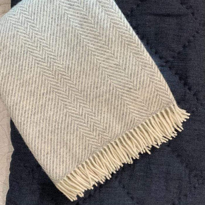 Jacob Silver Chevron Blanket