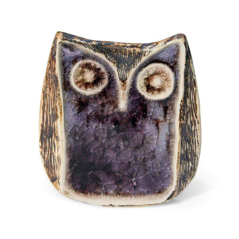 Jonathan Adler Glass Menagerie - Screech Owl - Purple