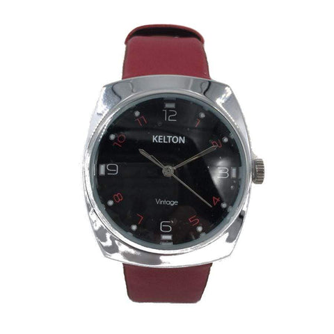 Kelton Red Leather Watch
