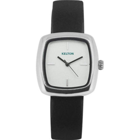 Kelton Square Black Leather Watch