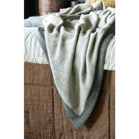 Komorebi Knitted Throw Charcoal