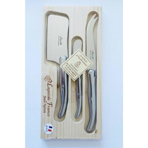 Laguiole Cheese Set - Stainless handle 3 Piece