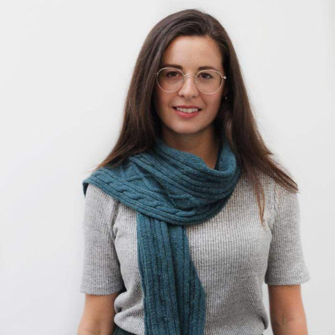 Lambswool Aran Scarf - Hunter