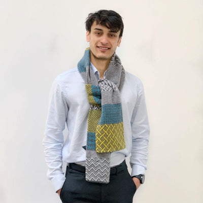 Lambswool Awe Scarf - Yellow