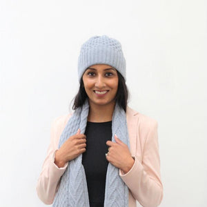 Lambswool Esk Hat - Ice