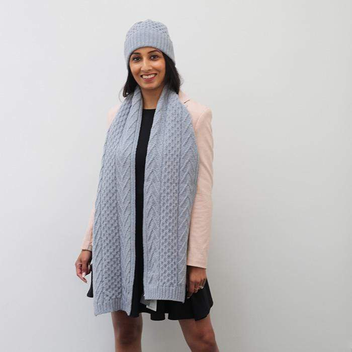 Lambswool Esk Scarf - Ice