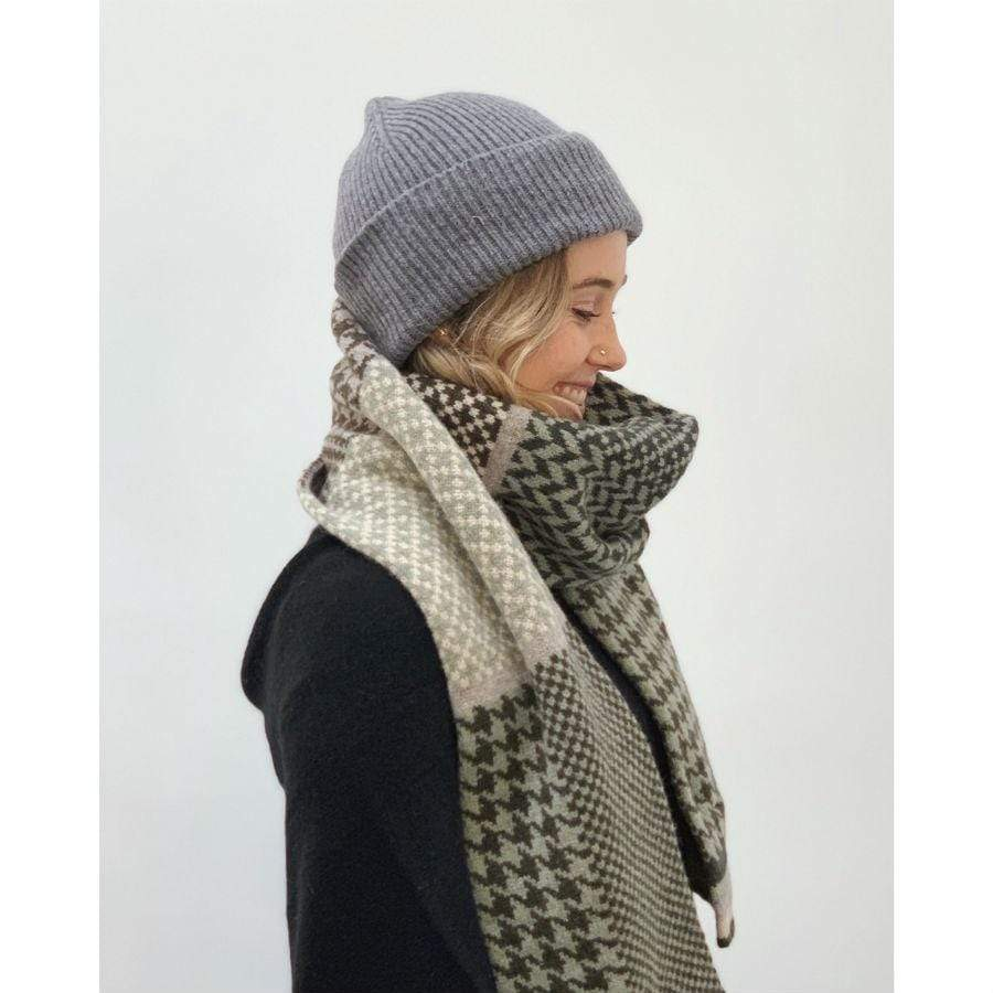 Lambswool Glenfinnan Scarf - Charcoal
