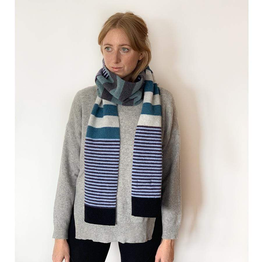 Lambswool Harris Scarf - Multi