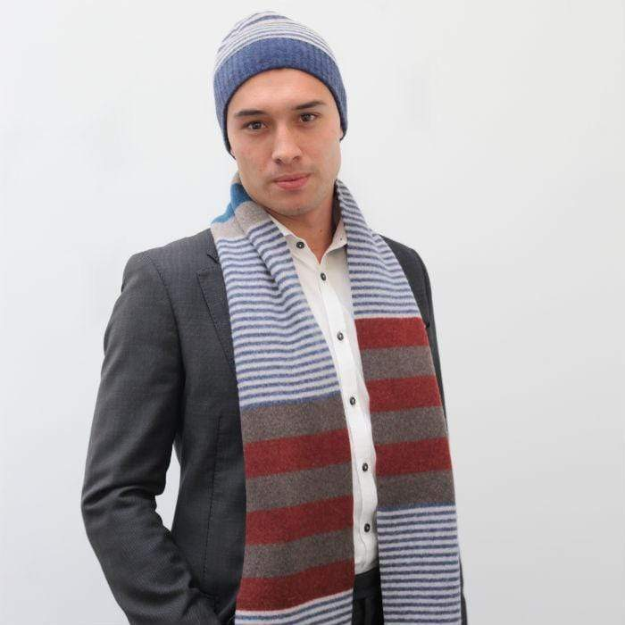 Lambswool Harris Scarf - Rust