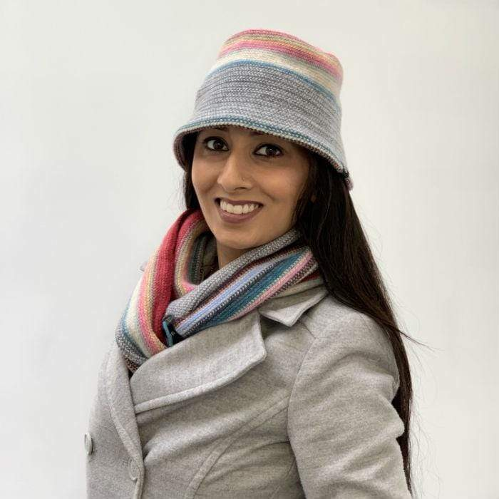 Lambswool Maree Brimmed Hat - Candy