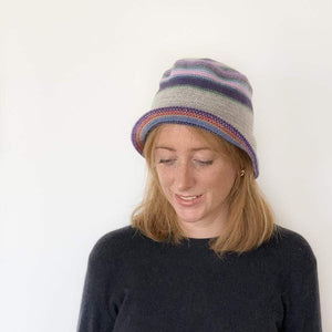 Lambswool Maree Brimmed Hat - Grey