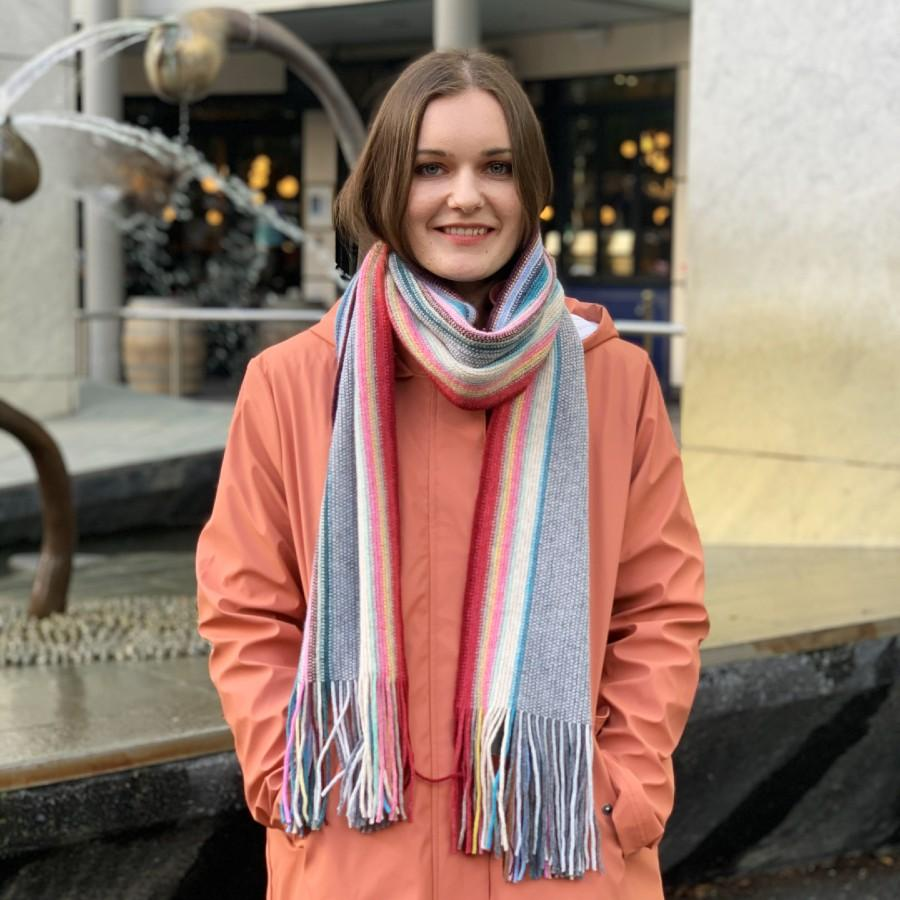 Lambswool Maree Scarf - Candy