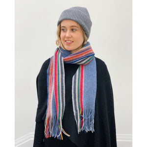 Lambswool Maree Scarf - Denim