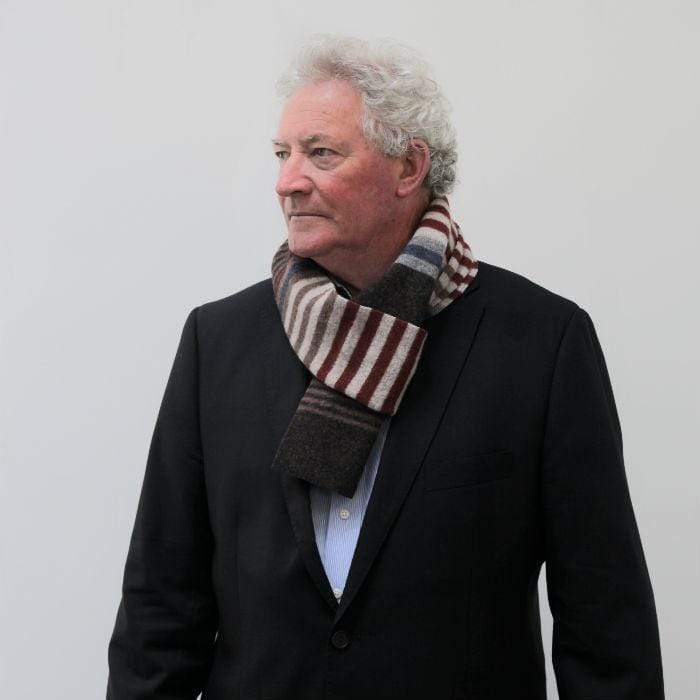 Lambswool Mull Scarf - Burgundy
