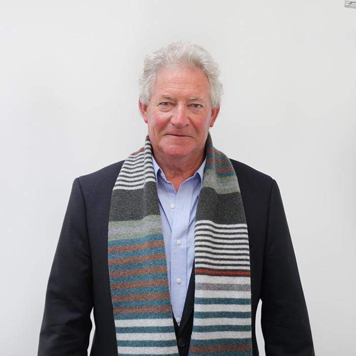 Lambswool Mull Scarf - Rust