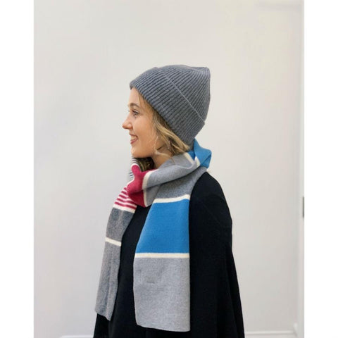 Lambswool Ness Scarf - Azure