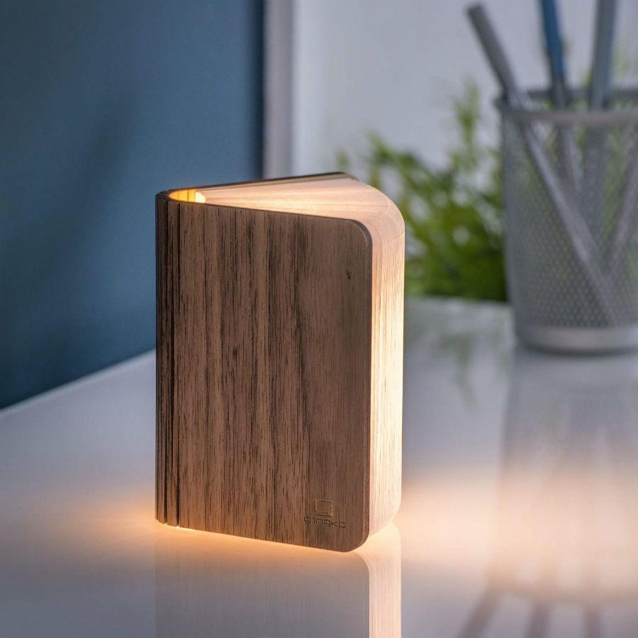 large Smart Book Light | Walnut