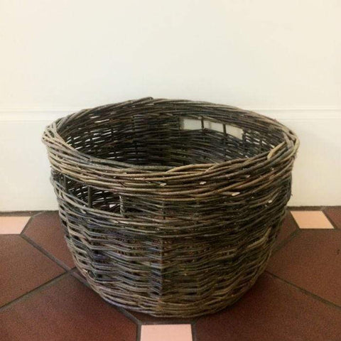 Large Willow Round Wood Basket Large - NZ Made