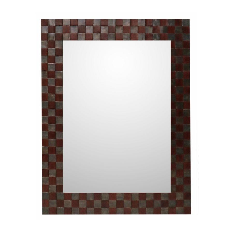 Leather and Metal Mirror | Cranfields Wellington