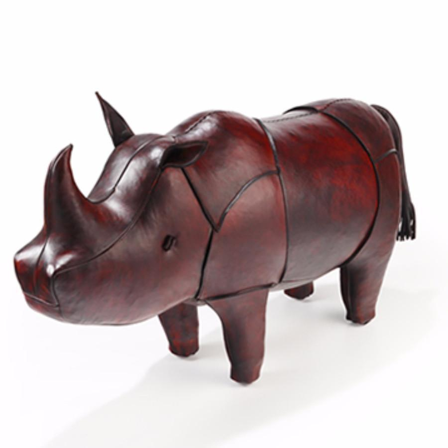 Leather Animal - Large Leather Rhino
