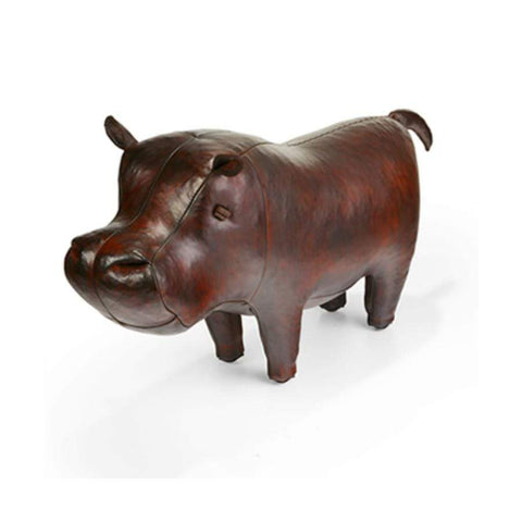 Leather Animal - Medium Leather Hippo