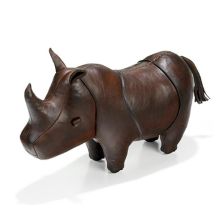 Leather Animal - Small Leather Rhino