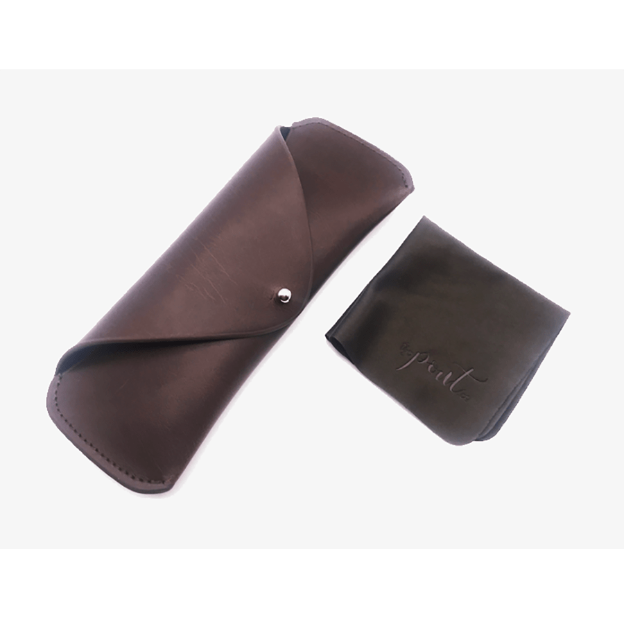 Leather Glasses Case Brown