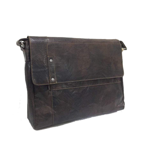 Leather Satchel - Obsidian