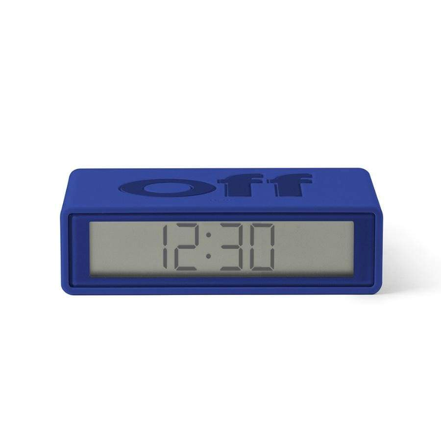Lexon Flip Alarm Clock / Bright Blue