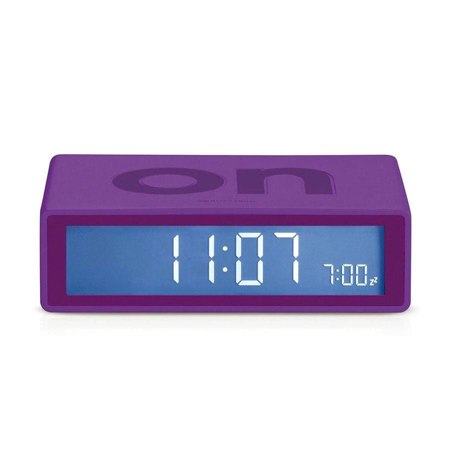 Lexon Flip Alarm Clock | Purple