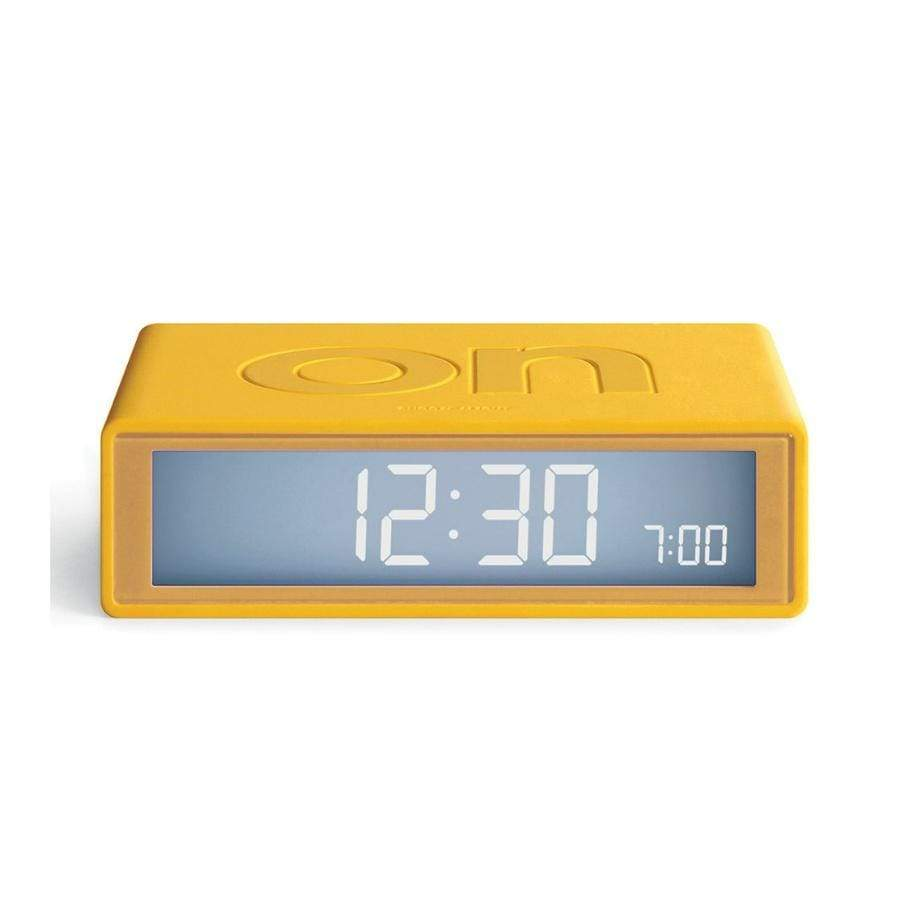 Lexon Flip Alarm Clock / Yellow