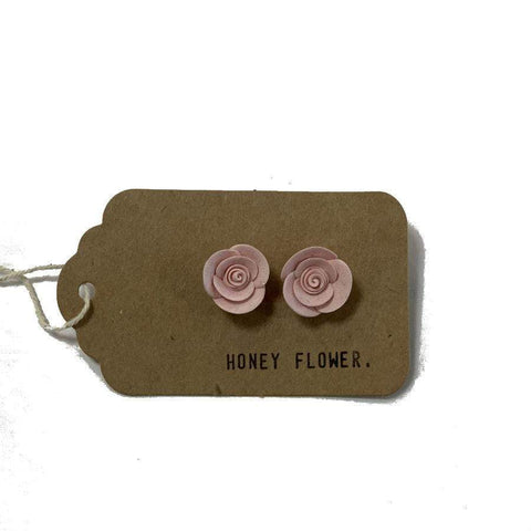 Light Pink Rose Earrings | Made in NZ