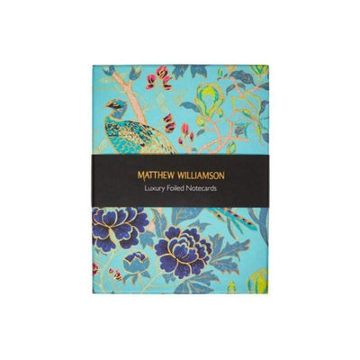 Magnolia Peacock Matthew Williamson Foiled notecards