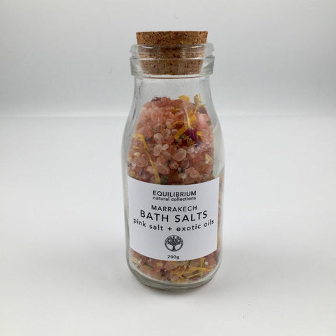 Marrakech Bath Salts | Glass bottle & Cork Lid- 200g