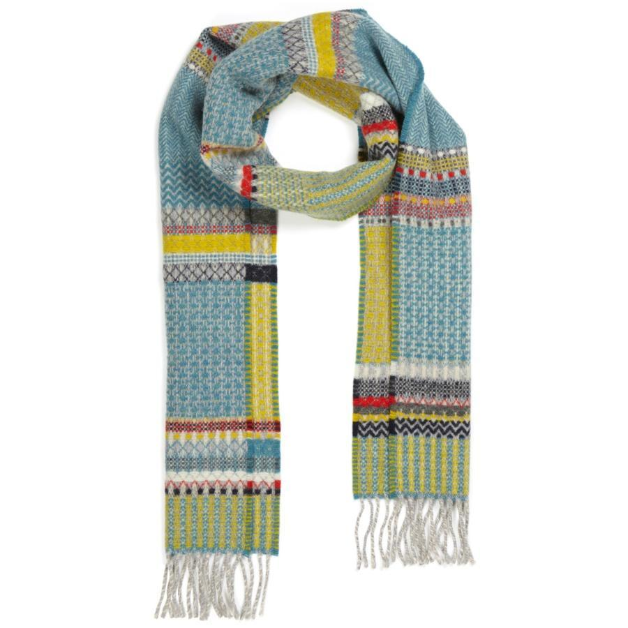 Merino Lambswool Diffusion Scarf- Meadow Blue