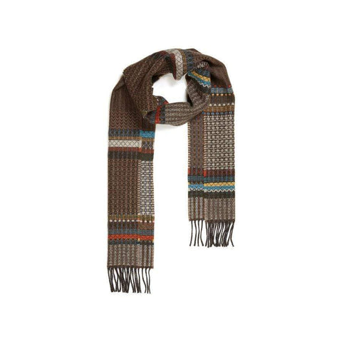 Merino Lambswool Diffusion Scarf- Meadow -Brown