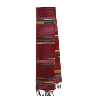 Merino Lambswool Diffusion Scarf- Meadow Red