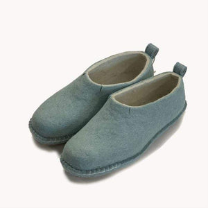 Milky Blue Half Boot | Felt Slippers
