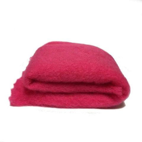 Mohair Knee Throw | Hot Pink