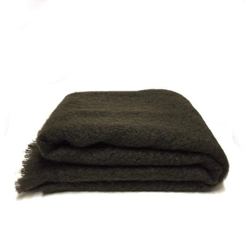 Mohair Throw Large  | Chocolate