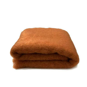 Mohair throw | Pumpkin