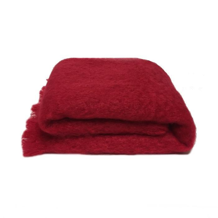 Mohair Throw | Ruby