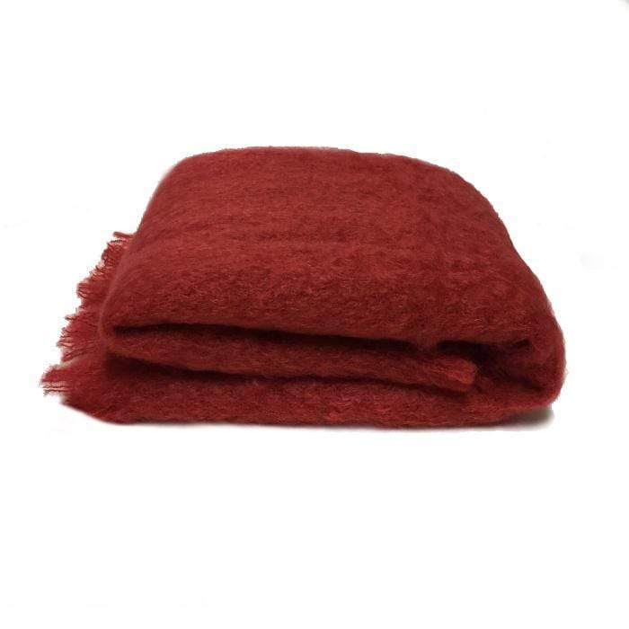 Mohair throw | Russet