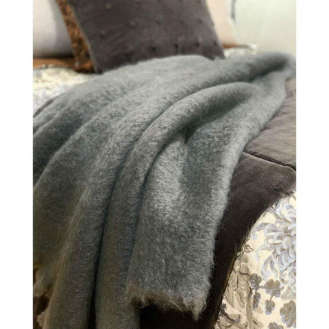 Mohair Throw | Slate