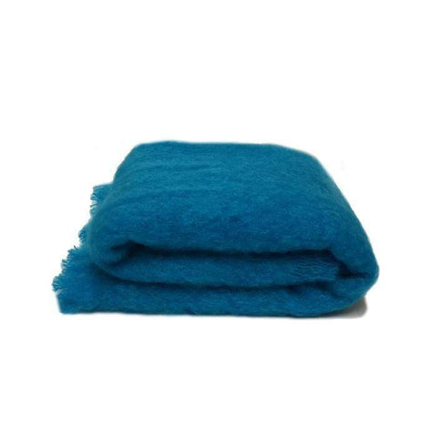 Mohair Throw | Turquoise