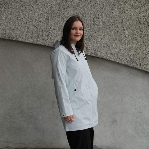 Moke Janey Raincoat Ice Grey