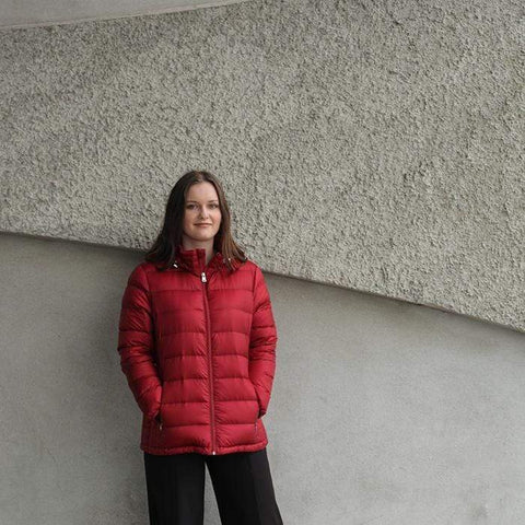 Moke Lynn- Short Duck Down Jacket - Claret
