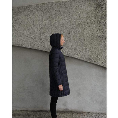 Moke Sarah- Long Duck Down Jacket - Ink Blue